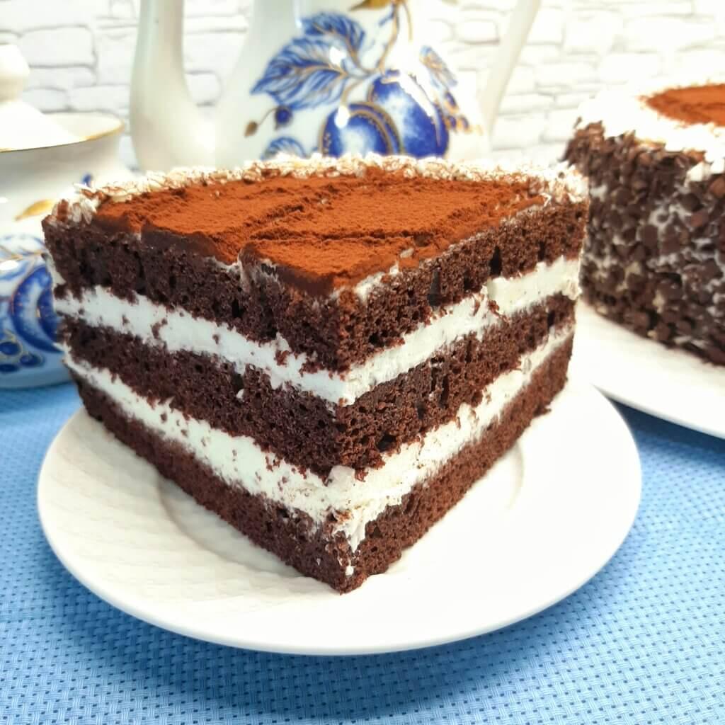 Торт Чёрный принц с кремом из сметаны и сахара