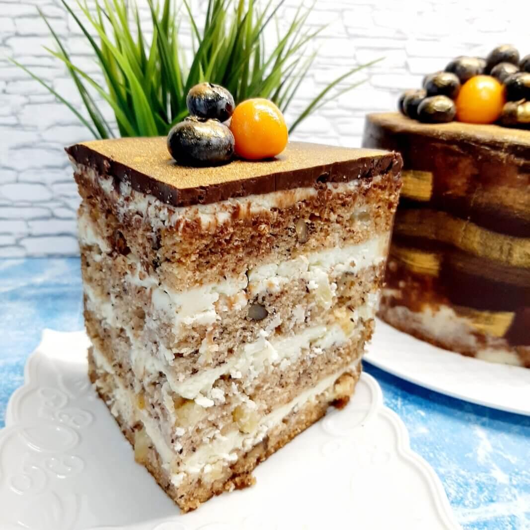 Разрез торта Колибри