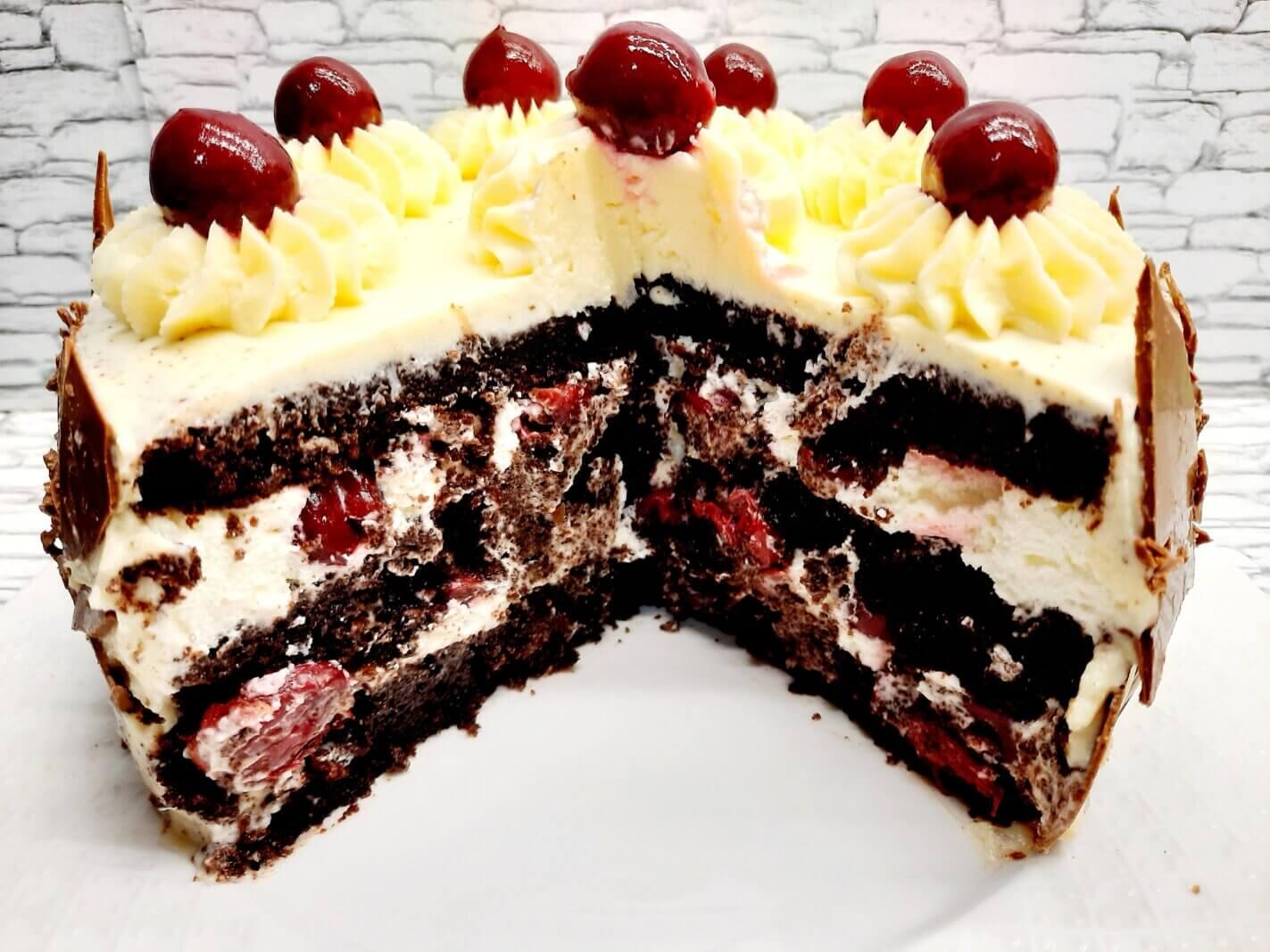Разрез торта Чёрный лес