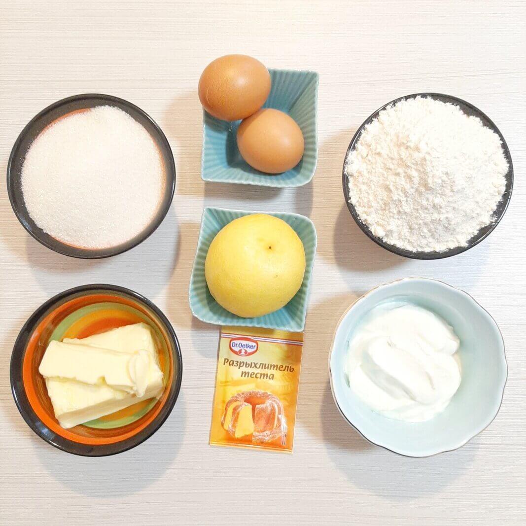 Продукты для лимонных капкейков