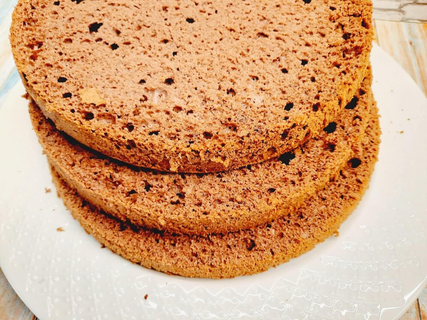 классический шоколадный бисквит
